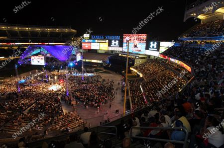 Yuri Foreman fights Miguel Cotto at the WBA World Super Welterweight Championship Boxing Match at Yankee Stadium in New York City on June 5, 2010.