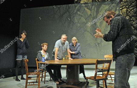 'Tribes' - Phoebe Waller-Bridge (Ruth), Harry Treadaway (Daniel), Stanley Townsend (Christopher), Kika Markham (Beth) and Jacob Casselden (Billy)