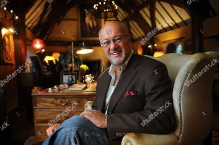 Editorial picture of Peter de Savary at home at Manor Hall in the village of Withington, Gloucestershire, Britain - 01 Oct 2010