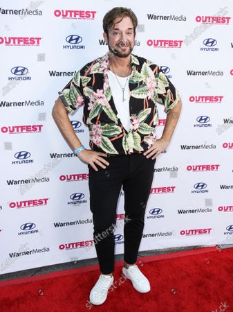 Stock Photo of Actor Sam Pancake arrives at the 2021 Outfest Los Angeles LGBTQ Film Festival Screening Of 'The Sixth Reel' held at the Directors Guild of America on August 19, 2021 in Los Angeles, California, United States.