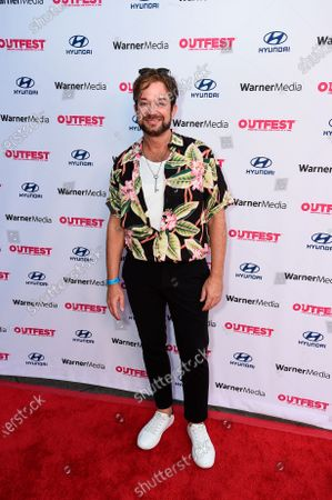 """Sam Pancake attends """"The Sixth Reel"""" world premiere at Outfest LA 2021 at the Directors Guild of America, in Los Angeles"""