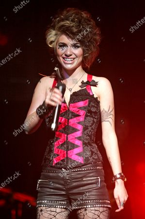 Stock Photo of Siobhan Magnus performs with the American Idols 2010 tour at the BankAtlantic Center in Sunrise, Florida on August 3, 2010.