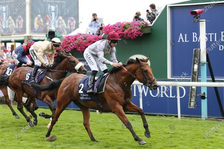 LUSAIL (2) ridden by Pat Dobbs and trained by Richard Hannon winning The Group 2 Al Basti Equiworld Dubai Gimcrack Stakes over 6f (£150,000)  during the Ebor Meeting horse racing at York Racecourse, York