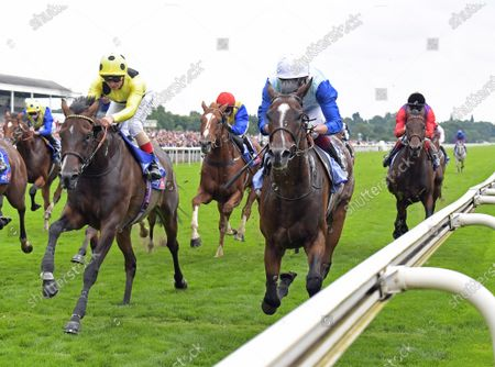 SAM COOKE with Rob Hornby wins from left THRONE HALL 2nd in Sky Bet Stakes Handicap at York