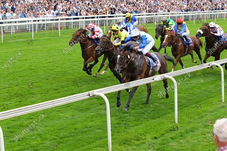 Sam Cooke and Rob Hornby win the Sky Bet Handicap at York.