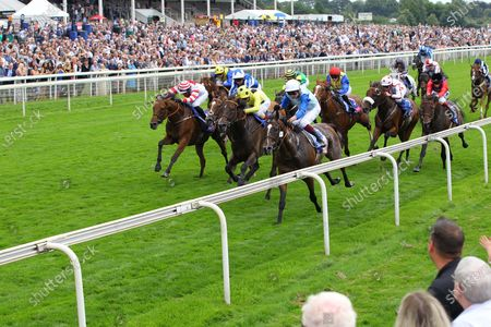 Stock Photo of Sam Cooke and Rob Hornby win the Sky Bet Handicap at York.