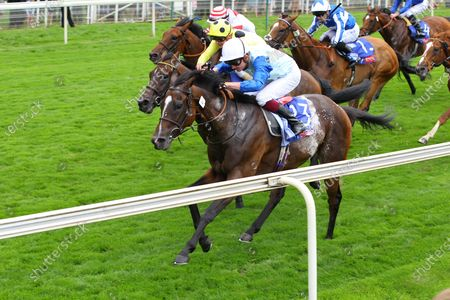 Stock Picture of Sam Cooke and Rob Hornby win the Sky Bet Handicap at York.