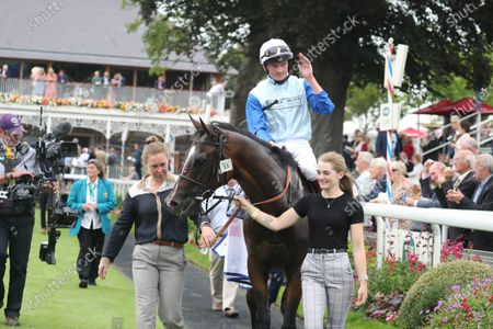 SAM COOKE and Rob Hornby Win The Sky Bet Handicap York Racecourse Trained by Ralph Beckett Owned by Chelsea Thoroughbreds Wonderful World