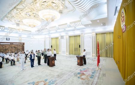 Editorial picture of China Beijing Npc Oath Taking Ceremony - 20 Aug 2021