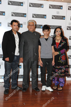 L-R Emil Marwa, Om Puri, Aqib Khan and Ila Arun