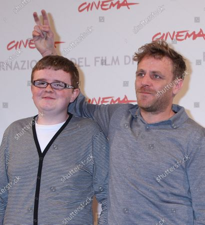 """Paul Courtney (L) and Paul Fraser arrive at a photocall for the film """"My Brothers"""" during the 5th Rome International Film Festival in Rome on October 29, 2010."""