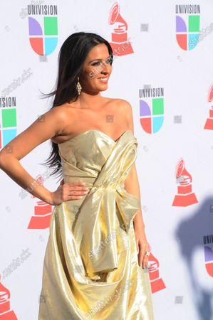 Maria Teresa Interiano arrives at the 11th annual Latin Grammy Awards in Las Vegas, Nevada on November 11, 2010.