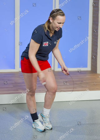 Stock Photo of Beci Dale - demonstrating her speed skipping