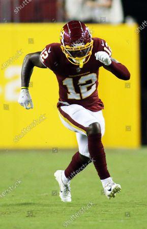 Washington Football Team wide receiver Tony Brown (12) runs during an NFL preseason football game against the Cincinnati Bengals, in Landover, Md