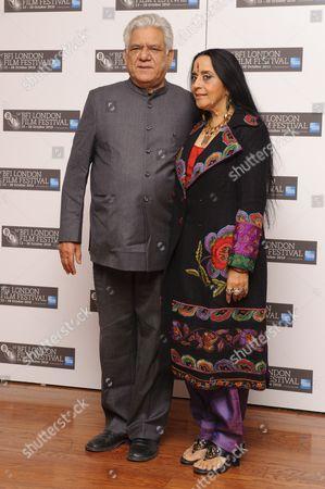 Stock Image of Om Puri and Ila Arun