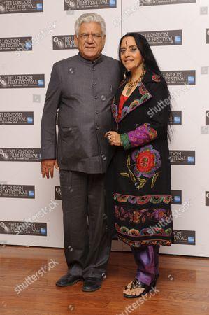 Om Puri and Ila Arun
