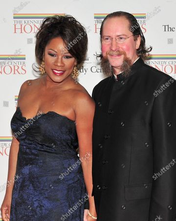 Denyce Graves and Dr. Robert Montgomery arrive for the 2010 Kennedy Center honorees Artist's Dinner at the United States Department of State in Washington, D.C. on Saturday, December 4, 2010.