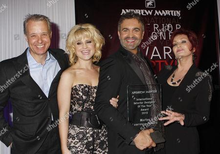 Martin Waller, Kelly Osbourne, Martyn Lawrence-Bullard and Sharon Osbourne