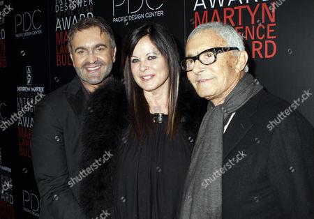 Martyn Lawrence-Bullard, Ronnie Sassoon and Vidal Sassoon