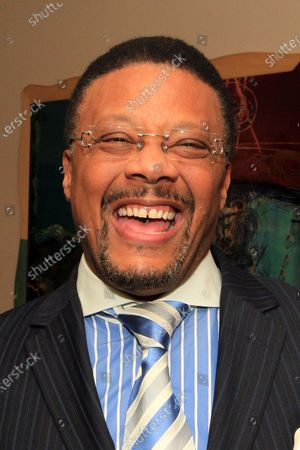 """The Honorable Judge Greg Mathis, star of the television show """"Judge Mathis"""" laughs as he prepares to be the keynote speaker at the 25th Anniversary of the Dr. Martin Luther King Jr., Statewide Celebration Kick-off Program for Missouri at Harris -Stowe State University in St. Louis on January 8, 2011."""