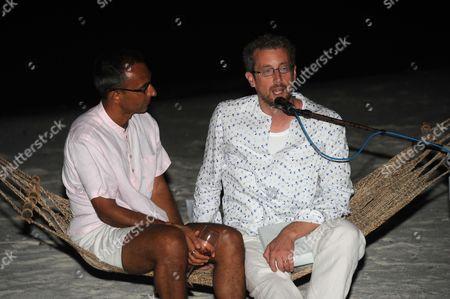 Sonu Shivdasani (R) and guest