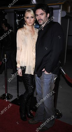 """Cast member Billy Burke (R) and wife Pollyanna Rose attend the premiere of the film """"Drive Angry"""" at the Arclight theater in the Hollywood section of Los Angeles on February 22, 2011."""