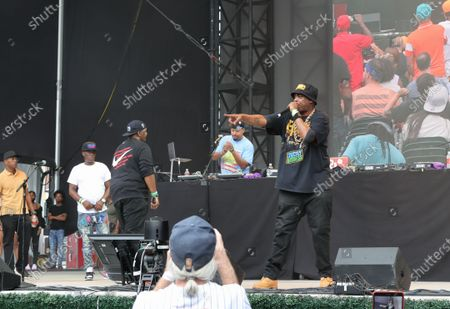 Erick Sermon and Parrish Smith of EPMD During the Hip Hop Summer NYC Homecoming Concert Series 2021 today at Queens Forest Hills Stadium