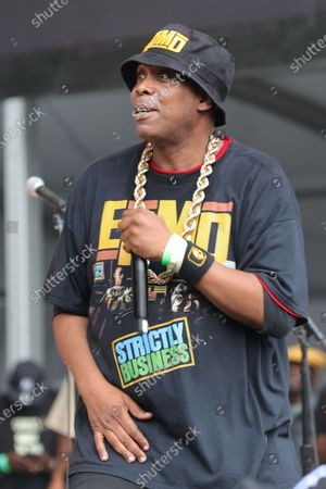 Erick Sermon and Parrish Smith During the Hip Hop Summer NYC Homecoming Concert Series 2021 today at Queens Forest Hills Stadium