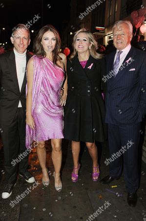 Patrick Cox, Elizabeth Hurley, Marigay McKee and Per Neuman