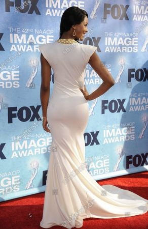 Stock Image of Osas Ighodaro attends the 42nd NAACP Image Awards Awards held at the Shrine Auditorium in Los Angeles on March 4, 2011.