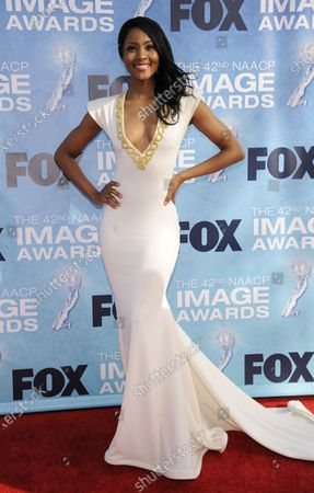 Stock Photo of Osas Ighodaro attends the 42nd NAACP Image Awards Awards held at the Shrine Auditorium in Los Angeles on March 4, 2011.