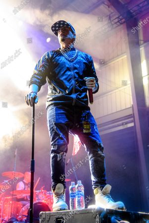 Stock Picture of Vanilla Ice performs at the 2021 Gathering of the Juggalos on at Legend Valley in Thornville, OH