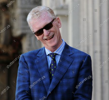 CBS news correspondent and New York Times best selling author Bill Geist reacts to comments during an unveiling ceremony honoring Geist with the 2,437th star on the Hollywood Walk of Fame in Los Angeles on April 15, 2011.