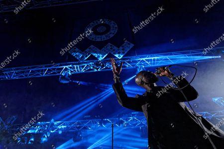 Stock Image of Obaro Ejimiwe aka Ghostpoet performs at the Far Out stage