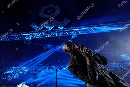 Stock Photo of Obaro Ejimiwe aka Ghostpoet performs at the Far Out stage