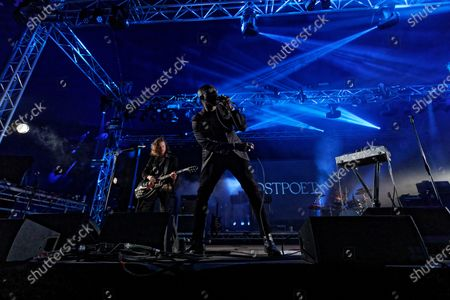 Stock Picture of Obaro Ejimiwe aka Ghostpoet performs at the Far Out stage