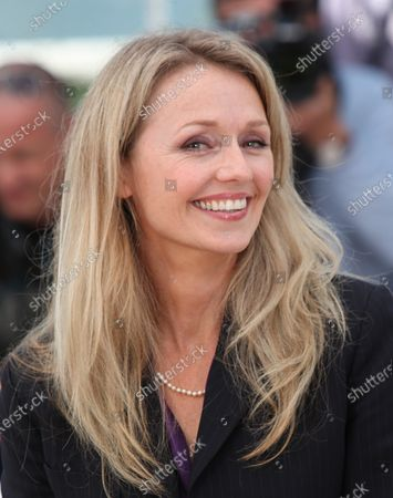 """Rachael Blake arrives at a photocall for the film """"Sleeping Beauty"""" during the 64th annual Cannes International Film Festival in Cannes, France on May 12, 2011."""