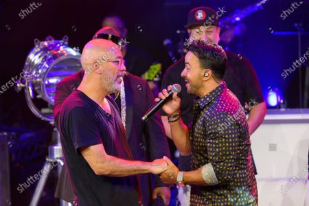 Jo Koy and Luis Fonsi pictured at The After Party performance