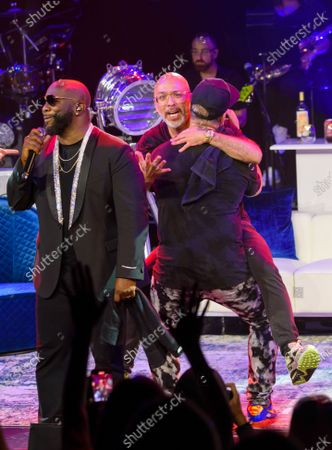 Wanya Morris, Jo Koy and Joey Fatone pictured at The After Party performance