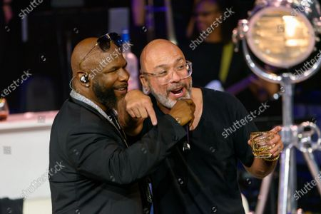 Wanya Morris and Jo Koy pictured at The After Party performance
