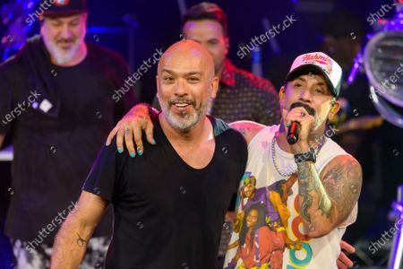 Jo Koy and AJ McLean pictured at The After Party performance