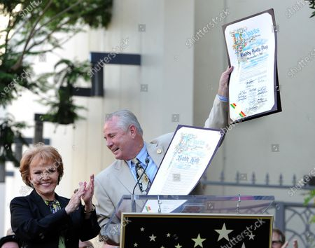 The late Buddy Holly received a posthumous Walk of Fame Star on his 75th birthday on Vine Street The late Buddy Holly received a posthumous Walk of Fame Star on his 75th birthday on Vine Street in front of The Capitol Records Building in Los Angeles on September 7, 2011.  His widow, Maria Elena Holly claps as Los Angeles City Councilman Tom LaBonge declared it Buddy Holly day in Los Angeles.