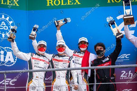 28 Gelael Sean (idn), Vandoorne Stoffel (bel), Blomqvist Tom (gbr), Jota, Oreca 07 - Gibson, podium