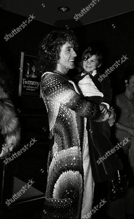 Stock Image of 'Tommy' film premiere, London - Roger Daltrey and actor Barry Winch who plays young Tommy