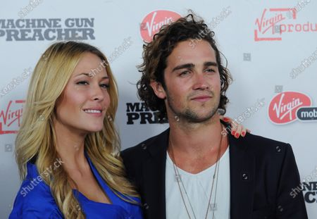 """Actrors Sarah Carroll and Spencer Falls attend the premiere of the motion picture """"Machine Gun Preacher"""", at the Academy of Motion Picture Arts & Sciences in Beverly Hills, California on September 21, 2011."""
