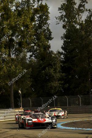 CIRCUIT DE LA SARTHE, FRANCE - AUGUST 22: #8 Toyota Gazoo Racing Toyota GR010 - Hybrid Hypercar of Sebastien Buemi, Kazuki Nakajima, Brendon Hartley during the 24 Hours of Le Mans at the Circuit de la Sarthe on August 22, 2021 in Le Mans, France. (Photo by JEP / LAT Images)