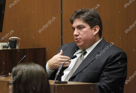 Prosecution witness Tim Lopez testifies in Dr. Conrad Murray's trial in the death of pop star Michael Jackson in Los Angeles on October 4, 2011.