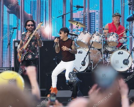 Arnel Pineda of Journey perform onstage during We Love NYC: The Homecoming Concert Produced by NYC, Clive Davis, and Live Nation