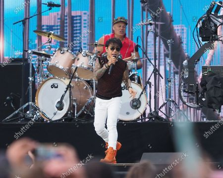 Stock Picture of Arnel Pineda of Journey perform onstage during We Love NYC: The Homecoming Concert Produced by NYC, Clive Davis, and Live Nation