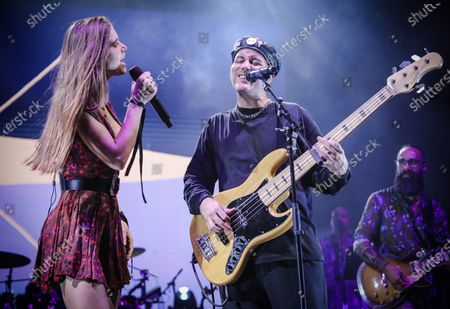 Stock Photo of  Delic and Willy Rodriguez of Cultura Profetica perform at Cosquin Rock USA at Island Gardens in Miami, Florida on August 21, 2021.